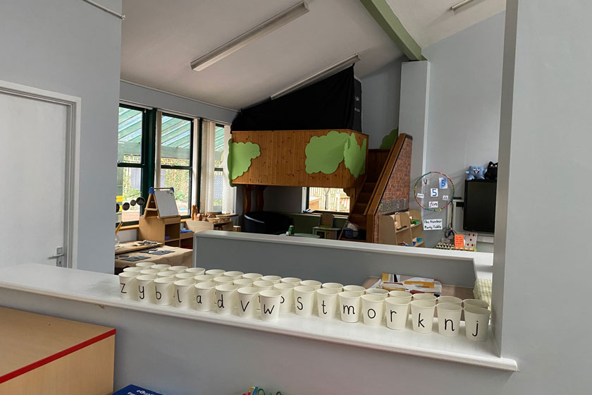 The new Kitchenette in the Early Years learning department