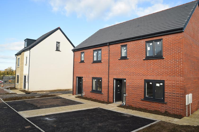 Exterior of new homes at Kingsfield