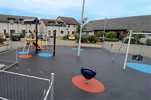 Equipment on the playground at Portsoy