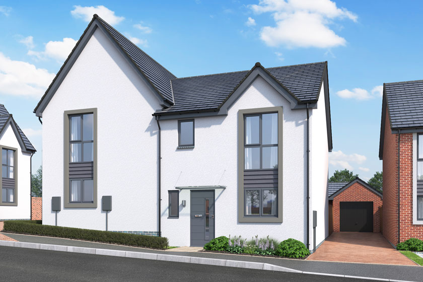 Exterior CGI of The Birch at Chestnut Meadows