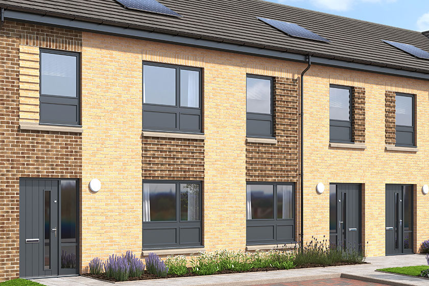 The exterior of The Lapwing, a two bed end terrace house at our Gleniffer Reach development in Paisley.