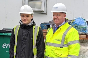 Jack Gallagher and Martin McLaughlin wearing safety gear