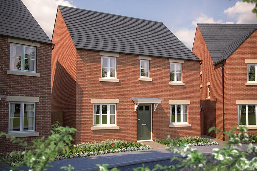 CGI rendering of The Buxton at Longford Park