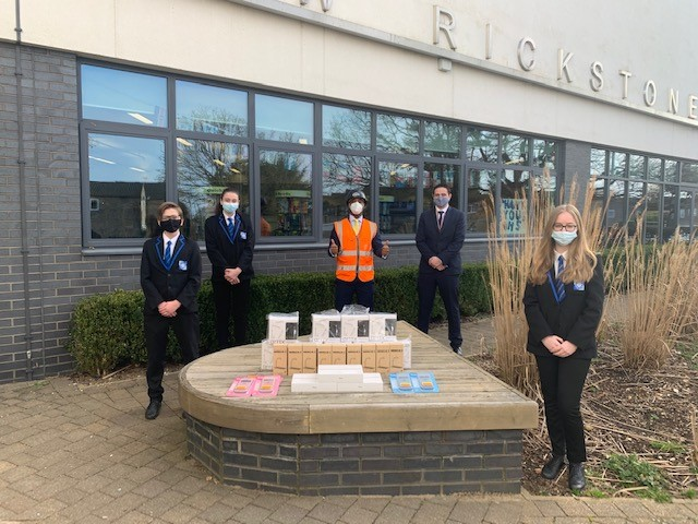 Pupils from Witham School are celebrating having received computer equipment