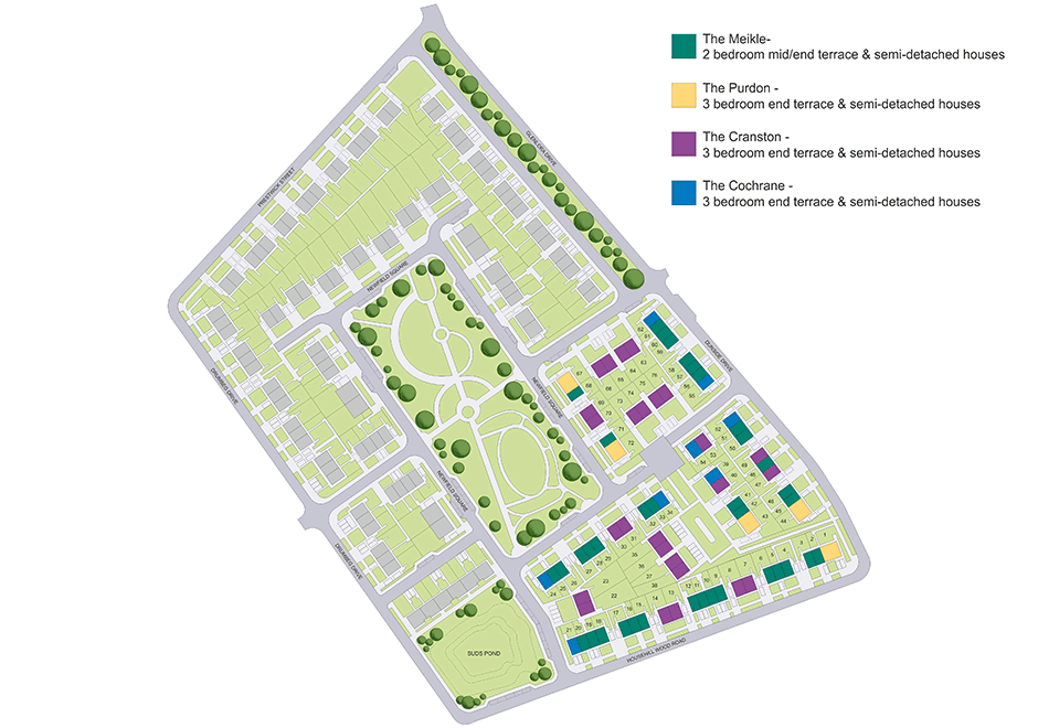 Newfield Square site plan.