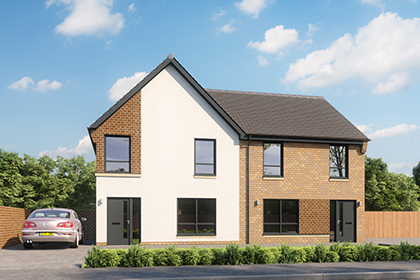 CGI of the award winning properties at Newfield Square.