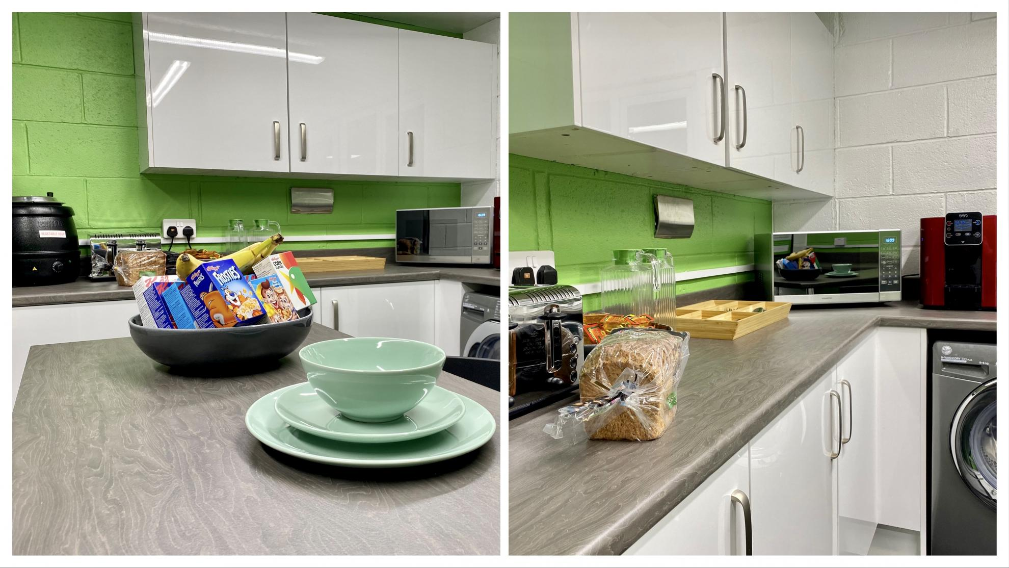 A shiny, clean kitchen