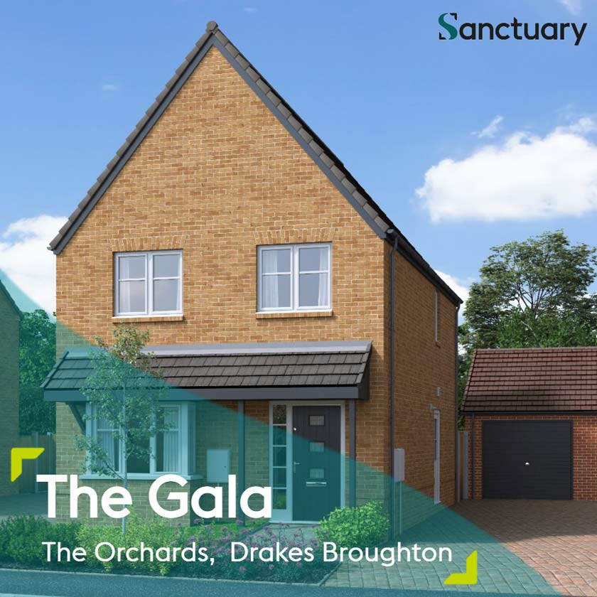CGI representation of The Gala house type at The Orchards development