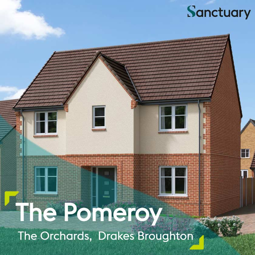 CGI representation of The Pomeroy house type at The Orchards development