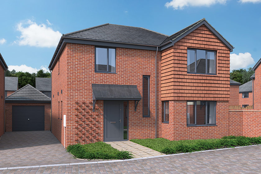 CGI of The Balkerne in Frating, Essex