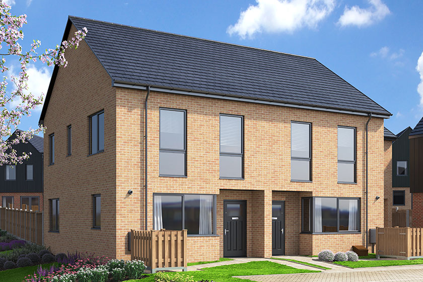 CGI rendering of the Frinsted house type at Watling Gate