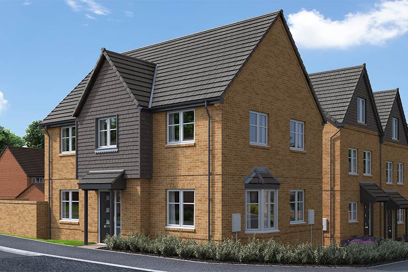 The Proposed Exterior (CGI) Of The Bramley, A 4 Bed Detached House