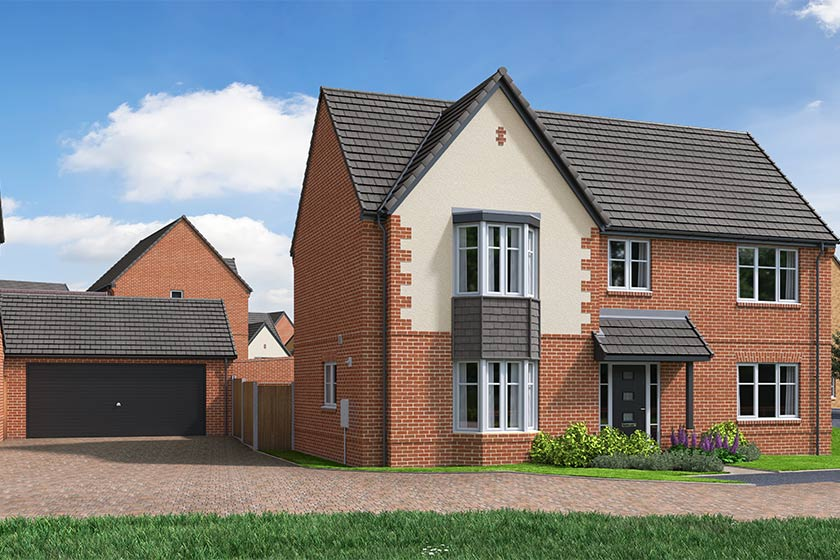 The Proposed Exterior (CGI) Of The Lambourne, A 5 Bed Detached House