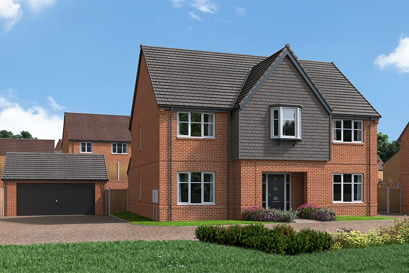 The Proposed Exterior (CGI) Of The May Queen, A 5 Bed Detached House
