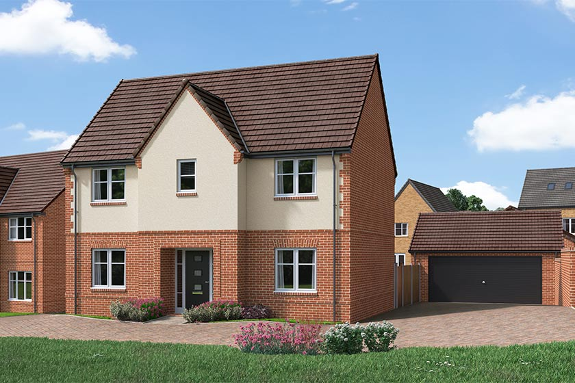 The Proposed Exterior (CGI) Of The Pomeroy, A 4 Bed Detached House