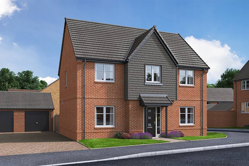 The Proposed Exterior (CGI) Of The Russet, A 4 Bed Detached House
