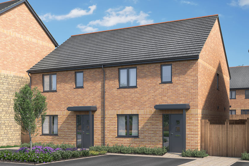 CGI of The Shapwick property at Kingsfield, Glastonbury