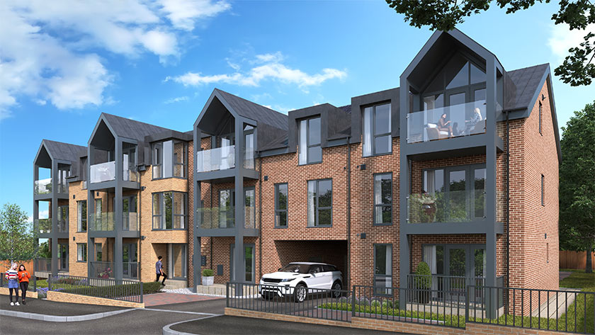 CGI rendering of The Westcliffs apartments