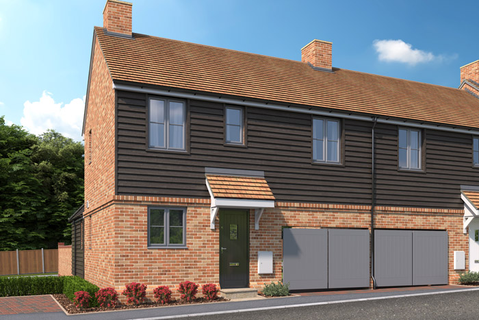 CGI of The Hawthorn property type at Three Acres.