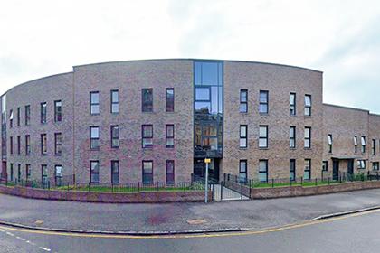 The external view of Wellmeadow Street housing development.