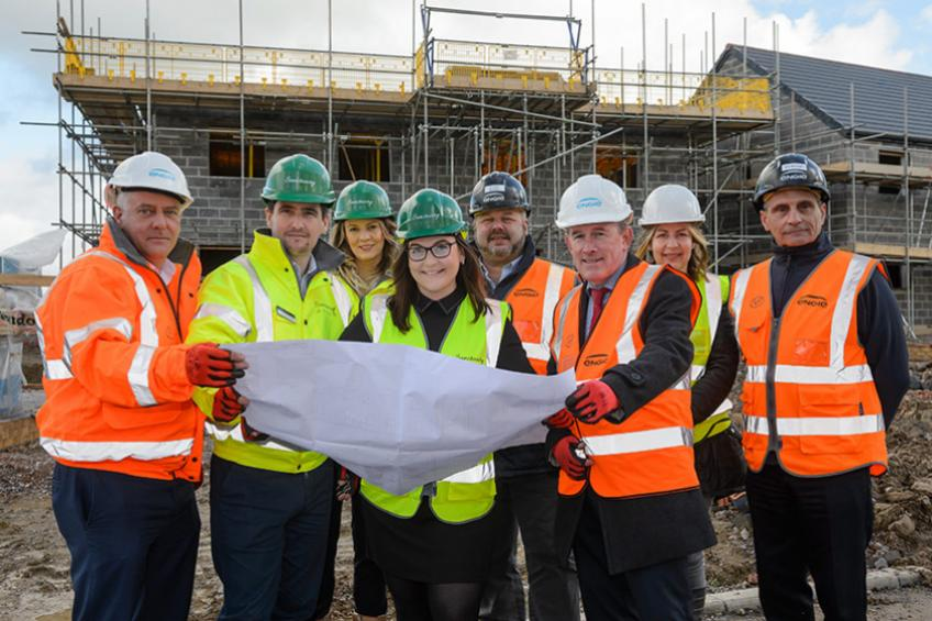 A picture of Work gathering pace at new Glastonbury development