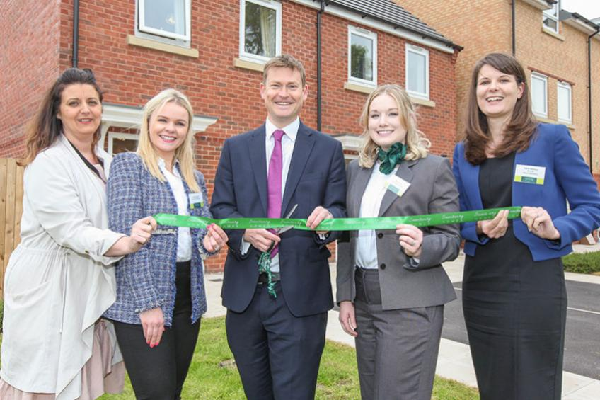 A picture of MP visits new family home development in Ellesmere Port