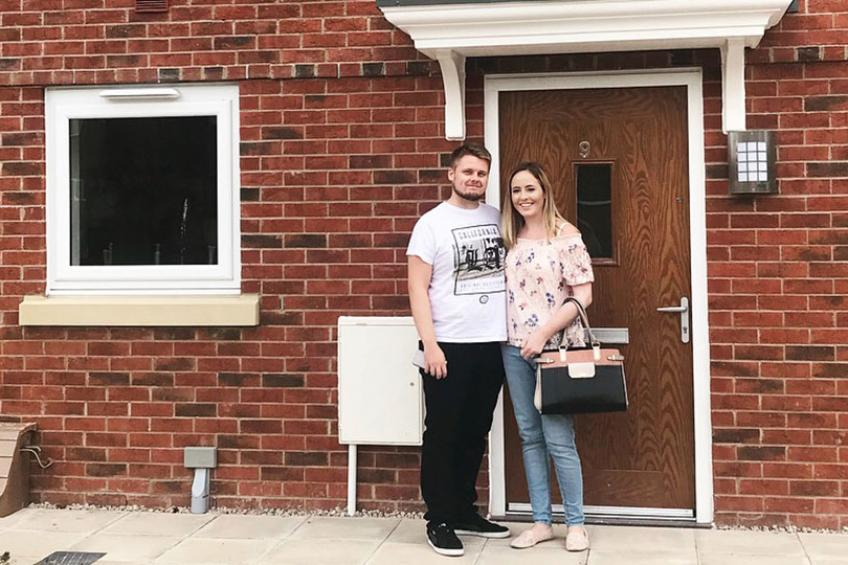 A picture of Shared ownership makes couple's home ownership dream a reality