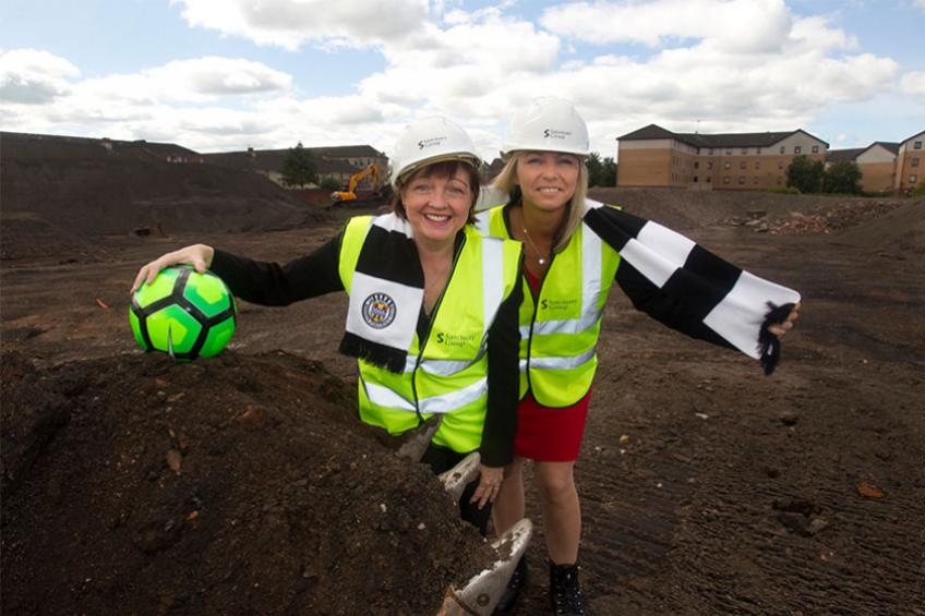 A picture of Construction kicks off on former football stadium site