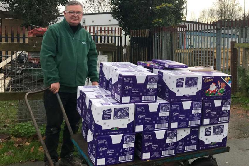 A picture of Sanctuary Homes deliver festive selection to Chester children