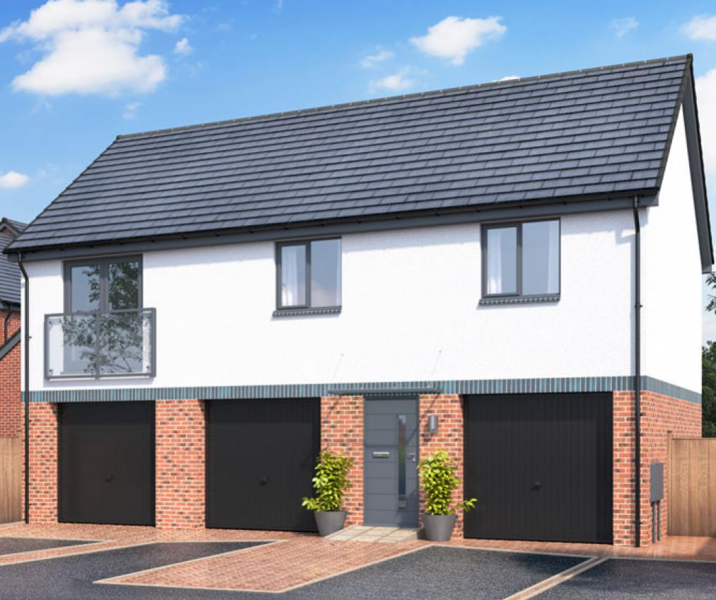 Exterior CGI of The Holly at Chestnut Meadows