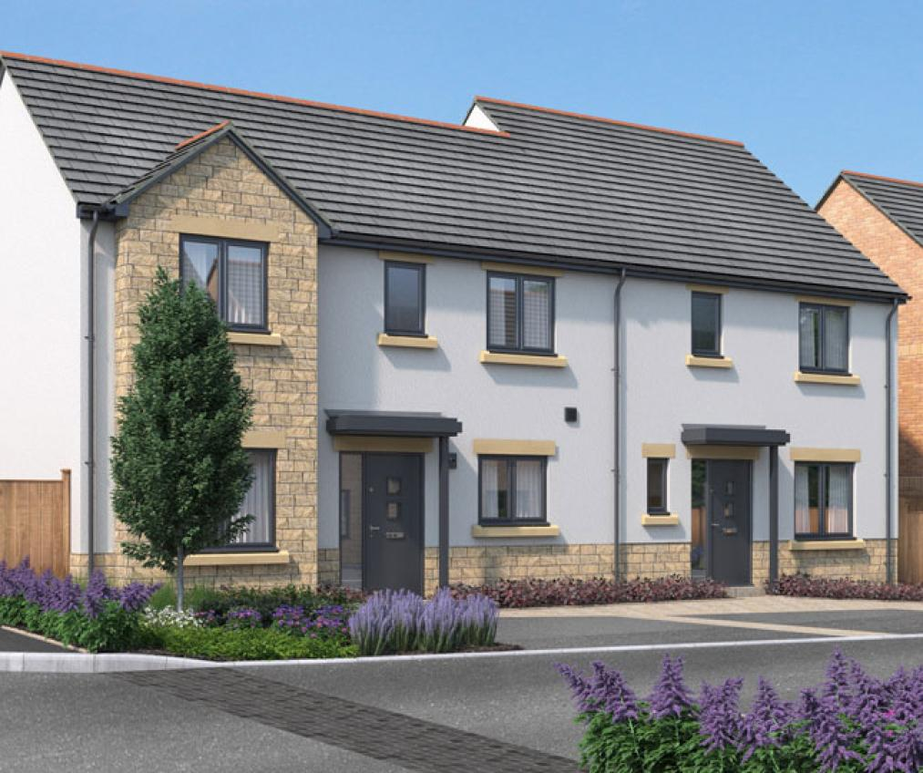 CGI of the new Kingsfield development in Glastonbury