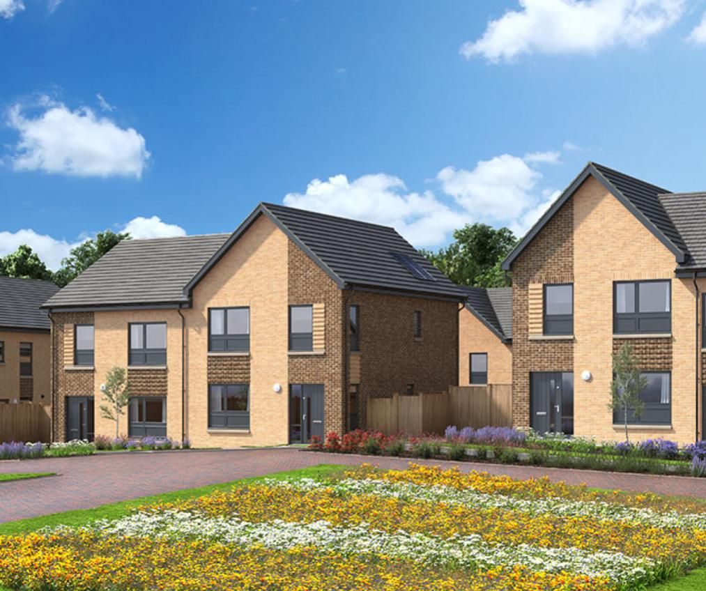 A computer generated image of the proposed new build houses at Glennifer Reach.
