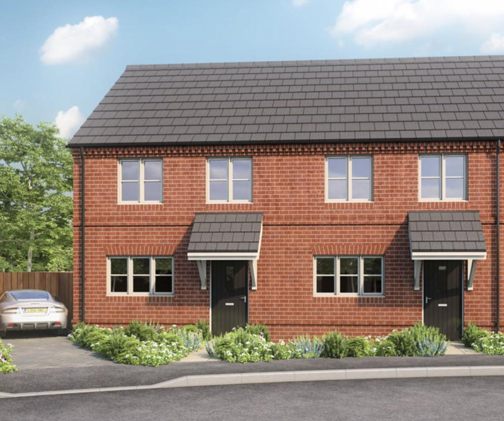 CGI of our 3 bedroom terraced houses at Orchard View