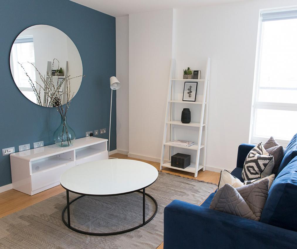 Quadrangle show suite living area 2