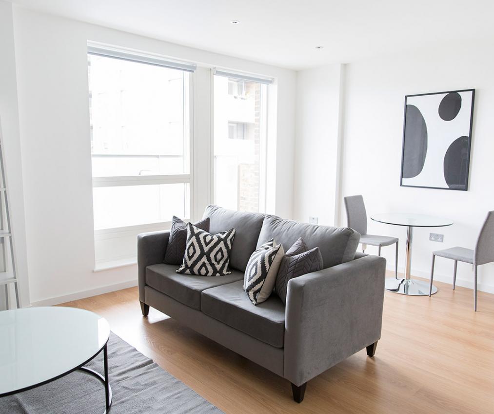 Quadrangle show suite living area