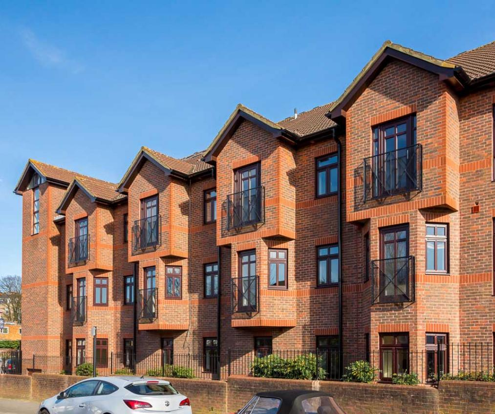 The exterior of St Giles House, a retirement living development