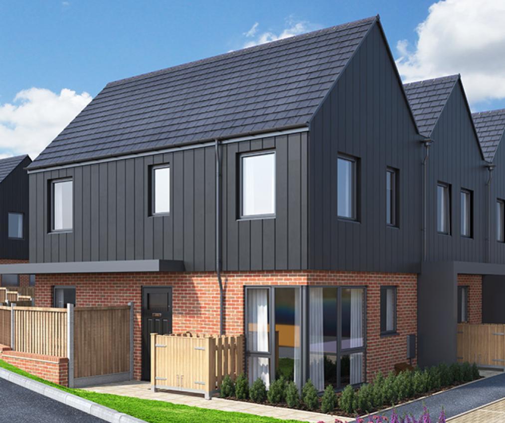 CGI rendering of the Leaveland house type at Watling Gate