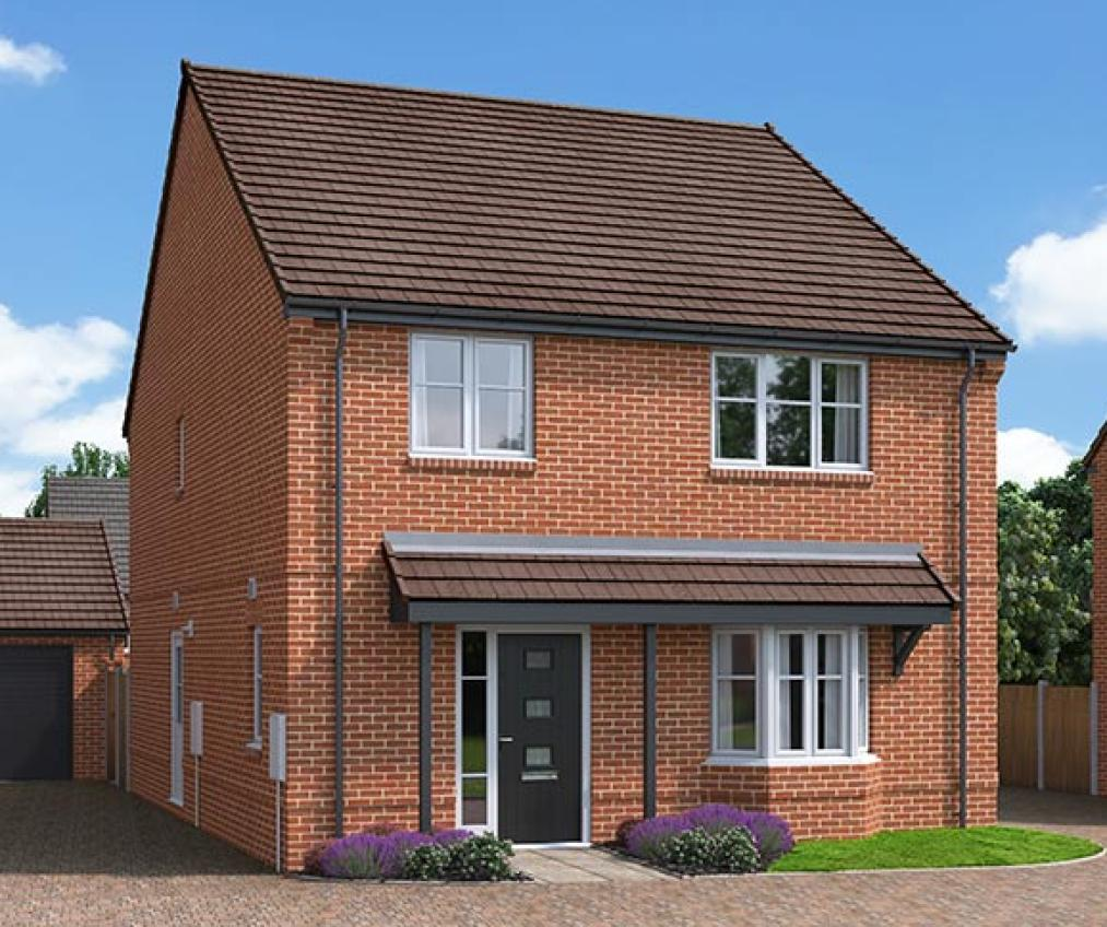 The Proposed Exterior (CGI) Of The Permain, A 4 Bed Detached House