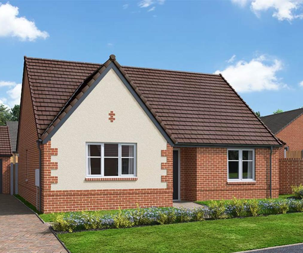 The Proposed Exterior (CGI) Of The Tydeman, A 2 Bed Semi-Detached House