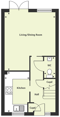 Ground floor floor plan of The Arun at Chase Park