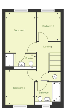 First floor floor plan of The Avon at Chase Park