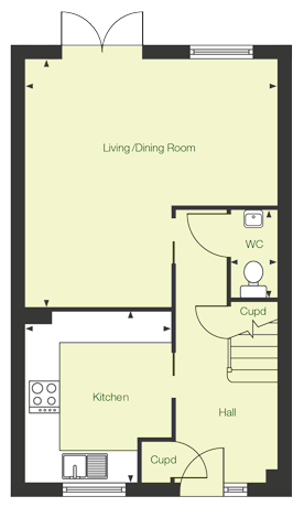 Ground floor floor plan of The Avon at Chase Park