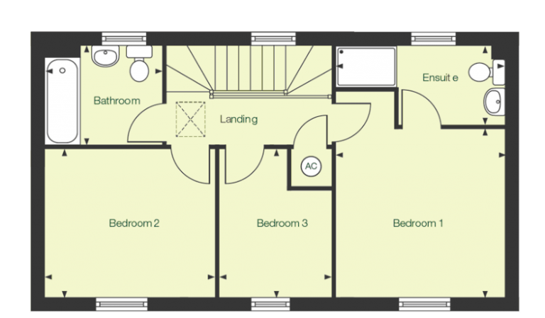 First floor floor plan of The Carey at Chase Park