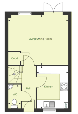 Ground floor floor plan of The Darwen at Chase Park