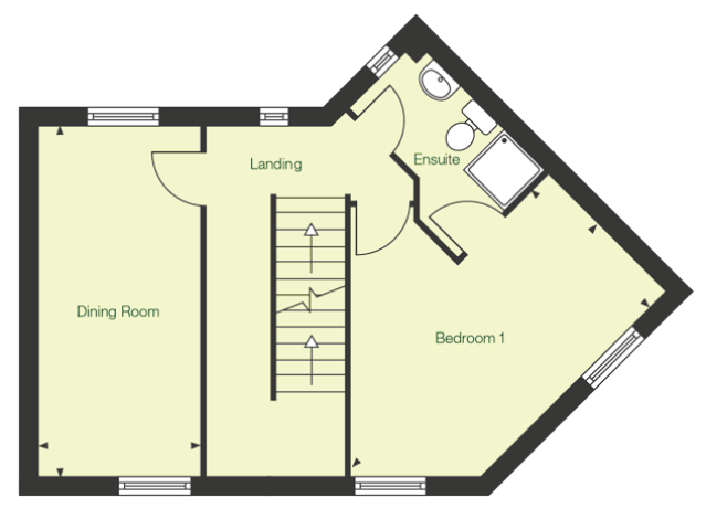 First floor floor plan of The Tern at Chase Park