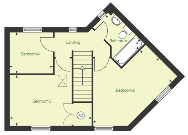 Second floor floor plan of The Tern at Chase Park