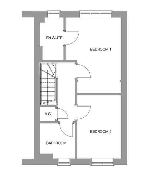 The Beech First Floor floor plan