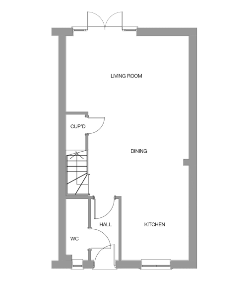 The Birch Ground Floor floor plan