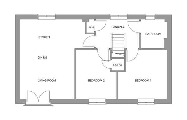 The Holly First Floor floor plan