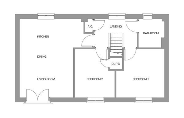 The Holly First Floor floor plan